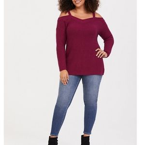 NWT Torrid Cold Shoulder Tunic Sweater